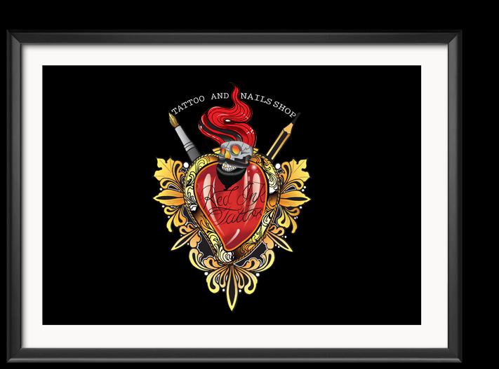 Design del Logotipo Red Ink Tattoo
