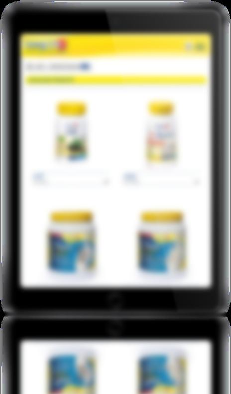 mockup dello sviluppo del sito internet responsivo ecommerce per lo shop online degli integratori longlife navigabile anche tablet