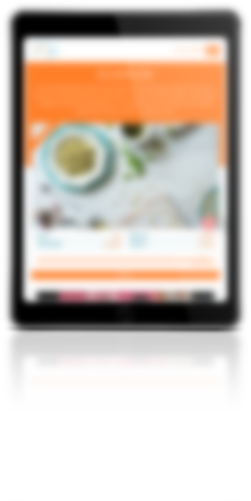 mockup dello sviluppo del sito web responsivo su tablet crowdfundme