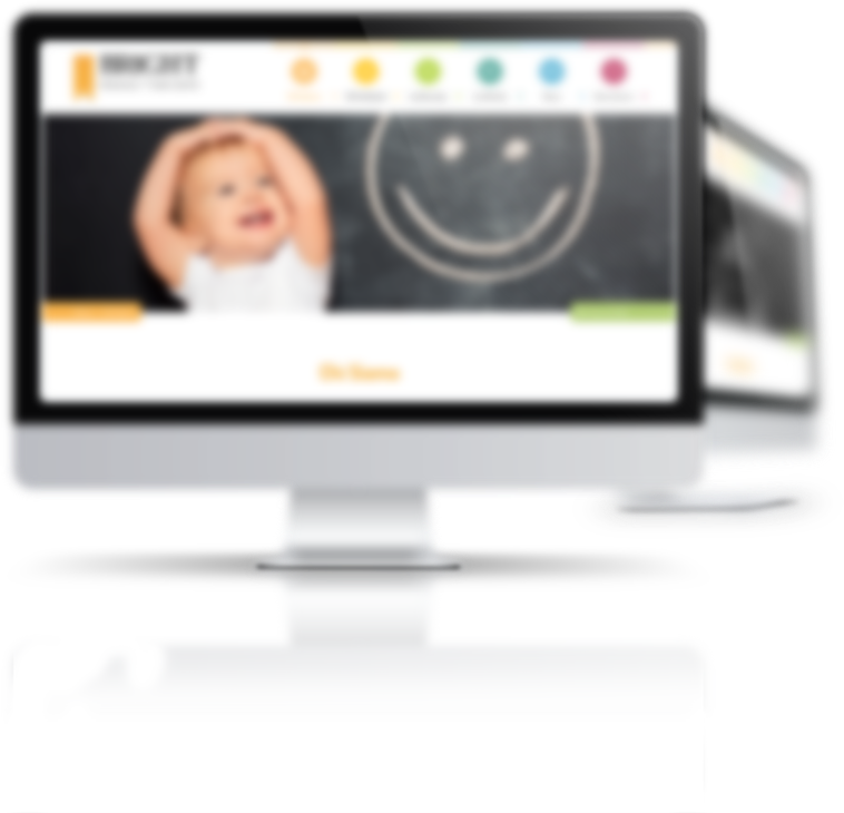 mockup dello sviluppo dello slider della homepage del sito internet responsivo per Bright Academy