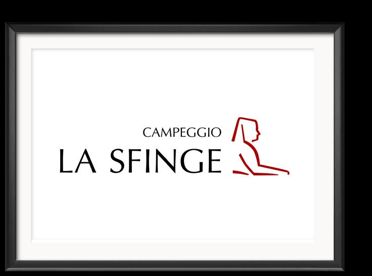 Design del Logotipo Campeggio la Sfinge