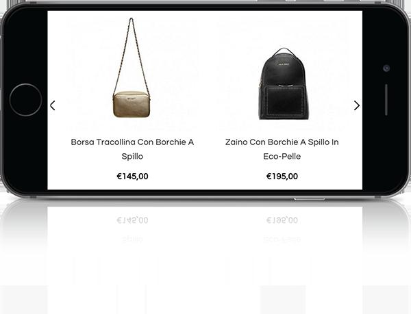 mockup mobile sviluppo sito web responsivo ecommerce personal shopper liveranishop