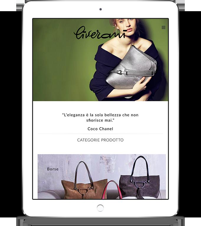 mockup tablet sviluppo sito web responsivo ecommerce liveranishop 1