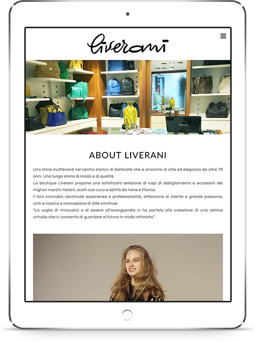 mockup tablet sviluppo sito web responsivo ecommerce liveranishop 2
