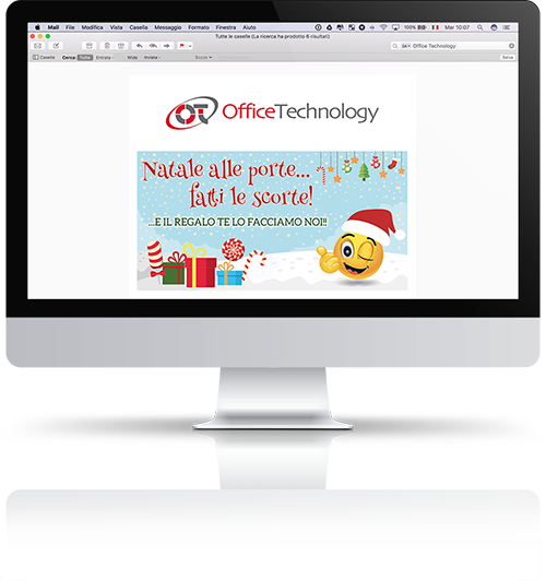 screenshot mockup email marketing online mailchimp template grafico office technology promo natale banner