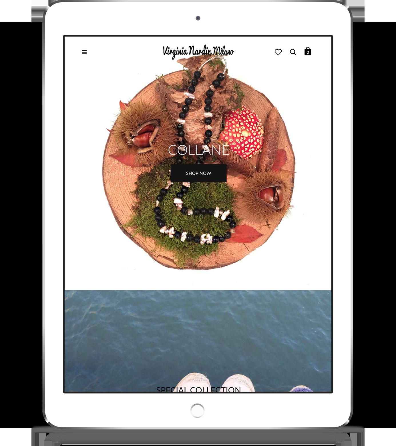mockup tablet sito web responsivo virginia nardin