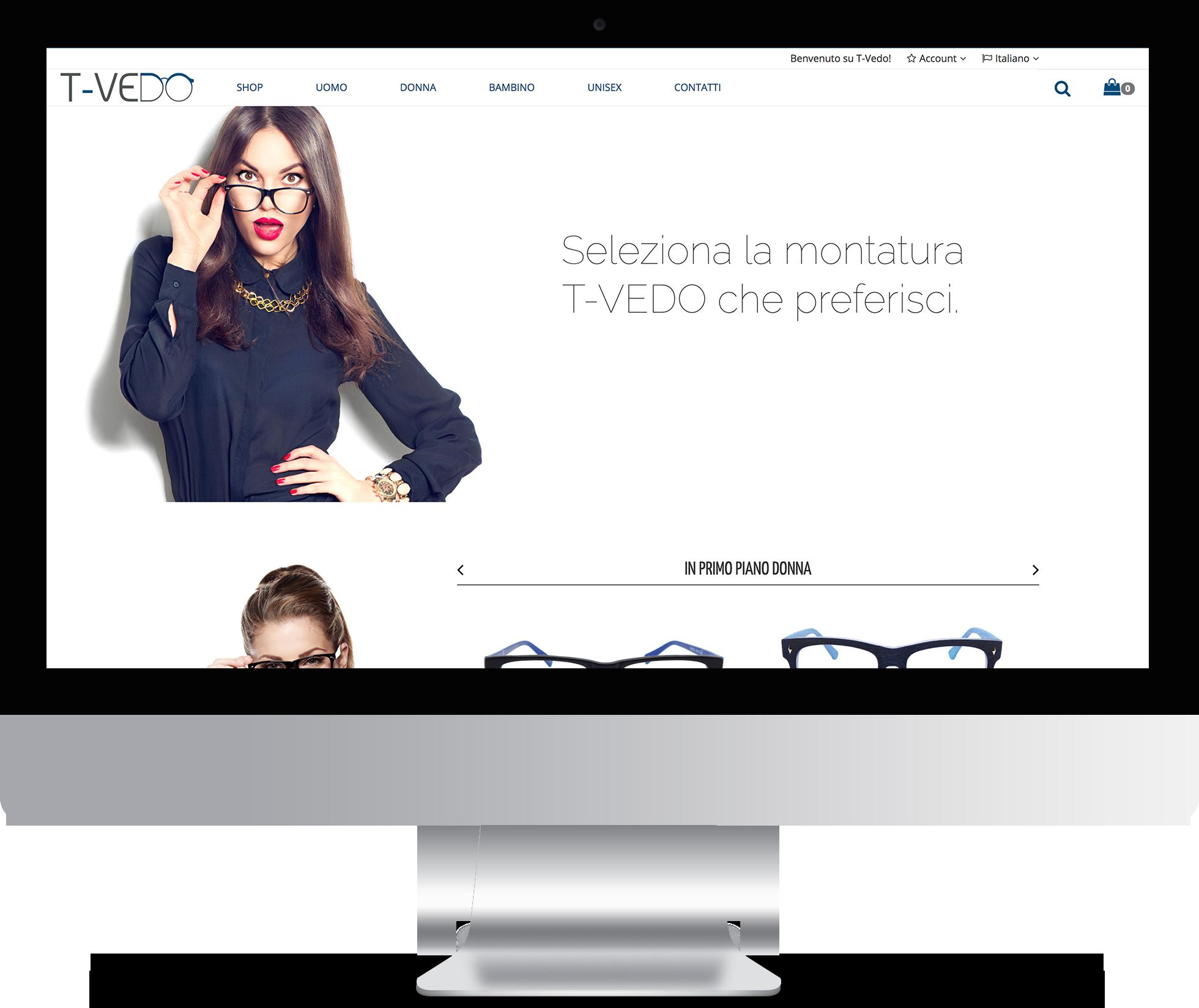 mockup presentazione web tvedo desktop